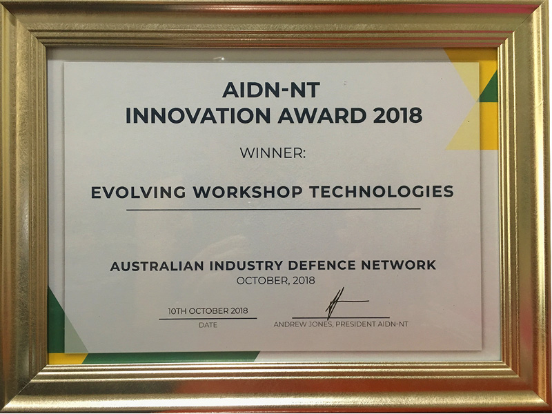 AIDN-NT Innovation Award 2018